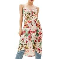 Summer dress 2017 casual asymmetrical women dress print womens clothing harness long dress