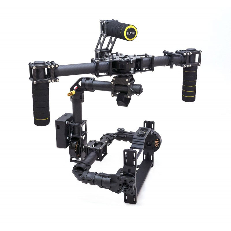 3 Axis Brushless 3K Full Carbon Fiber DSLR Handheld Stabilized Gimbal Camera Mount with DYS Motor and Controller 3k carbon fiber brushless gimbal with controller motors full plug