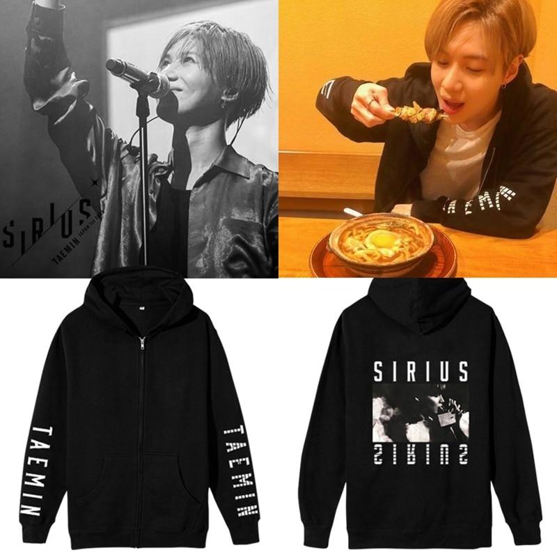 New Kpop SHINee Taemin 1st Concert in Japan SIRIUS men Hoodie Sweatshirts Cap unisex Pullover hoody sweatshirt
