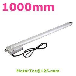 Actionneur linéaire électrique de 1000 mm, haute vitesse 100 mm/s, capacité de charge de 1600 N, 160 Kg, 12 et 24V DC