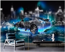 3d wallpaper custom photo Water sports car living room decoration painting 3d wall murals wallpaper for walls 3d 3d photo wallpaper mural custom living room sports car photo painting tv sofa background wall non woven wallpaper for walls 3d