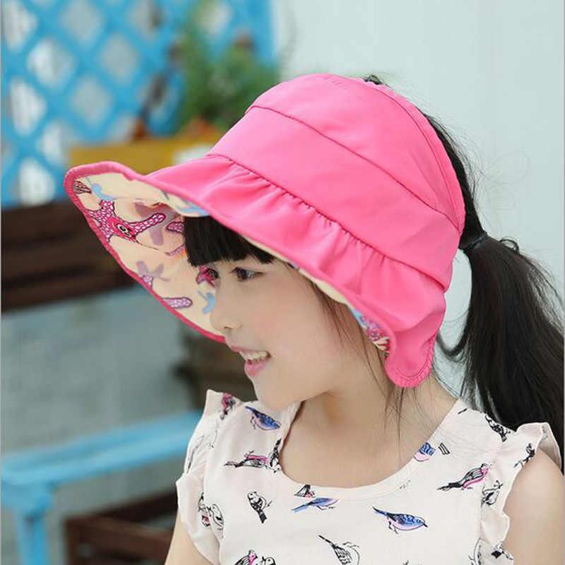 988e8d43455 2017 New Fashion Brief Summer Sun Cap Foldable Dry Quick Hat Waterproof  Kids Boys Girls Casual