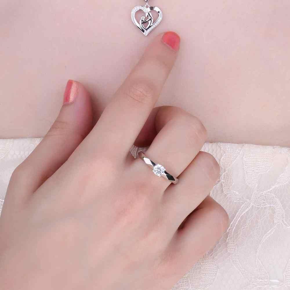 Jpalace zircônia cúbica anel de noivado 925 anéis de prata esterlina para as mulheres anel de aniversário anéis de casamento prata 925 jóias