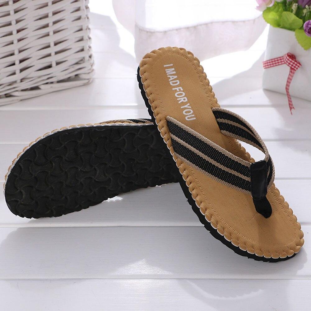 Men Breathable Summer Shoes Sandals Slipper Indoor Or Outdoor Non-Slip Flip Flops