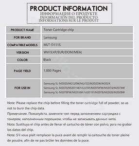 Image 5 - Mlt d111s 111s 111 d111 איפוס שבב עבור Samsung Xpress SL M2020W M2022 SL M2020 SL M2020 M2070w mlt d111s טונר לייזר מדפסת