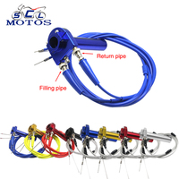 Sclmotos- 22mm CNC Aluminum Motorcycle Throttle Quick Twister Grips +2 Pcs Throttle Cable Accelerator Moped Scooter Racing