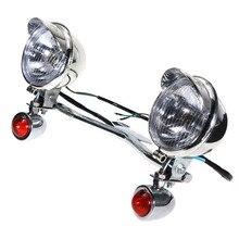 Grips Bar Passing Lamp Turn Signal light For Harley-Davidson /Kawasaki /Honda /Suzuki /Yamaha