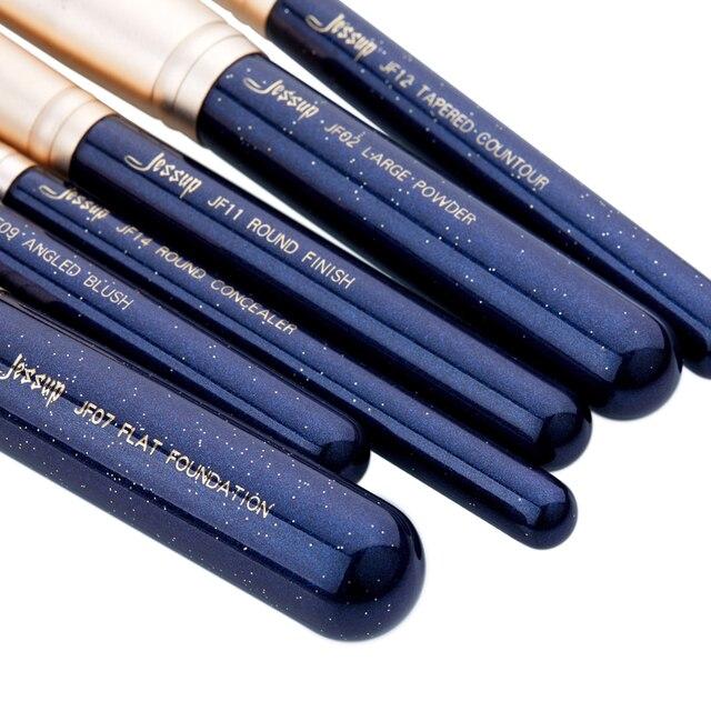 Jessup 6PCS Prussian Blue / Golden Sands Makeup brushes set LARGE POWDER FOUNDATION CONCEALER for face Make up brush 5
