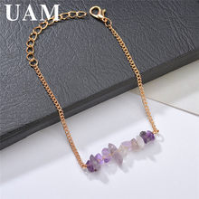 UAM Simple Jewelry Korean Style Gold Chain Bracelet Irregular Stone Charm Bracelet Summer Fashion Accessories Best Friends Gifts(China)