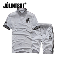 Polo Shirts Shorts Summer Brand Tshirt Men Letter Print Sportsuit Set 2017 T Shirt Suit Male