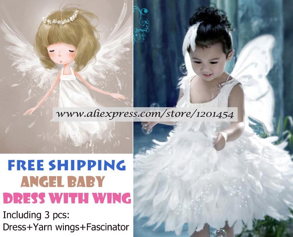 blanco disfraces infantiles de navidad hermosas plumas del ala del ngel vestidos de princesa para nia