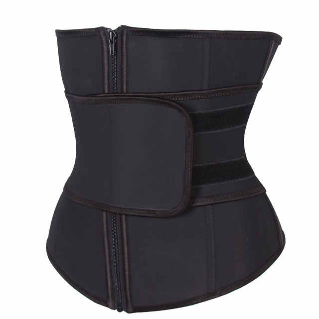 Plus Size Abdominal Belt High Compression Zipper Neoprene Waist Cincher Corset Underbust Body Fajas Sweat Waist Trainer