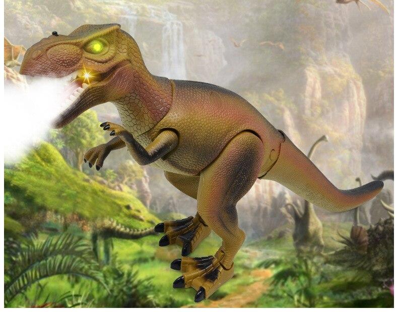 30 cm de haut grande Simulation tyrannosaure Smart spray dinosaure télécommande pulvérisation marche chant éducation précoce puzzle jouet