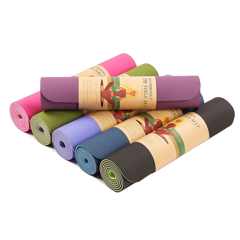 6MM TPE Non slip Yoga Mats For Fitness Tasteless Brand Pilates Mat 8 Color Gym Exercise