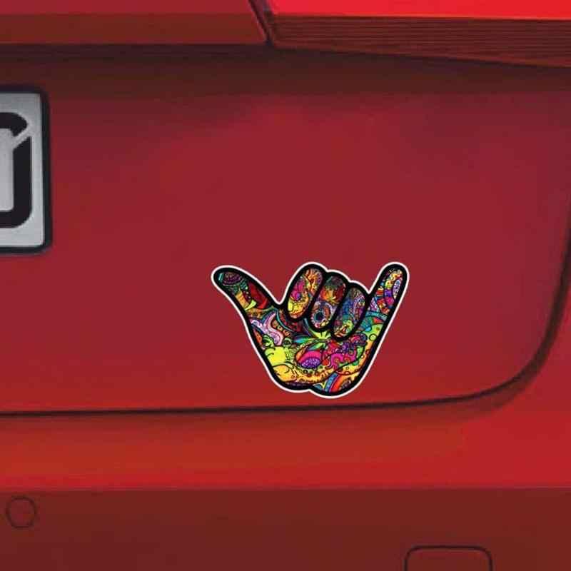 Shaka Hang Loose Graffiti Sticker Tattoo Car Window Bumper JDM Vehicle Decal