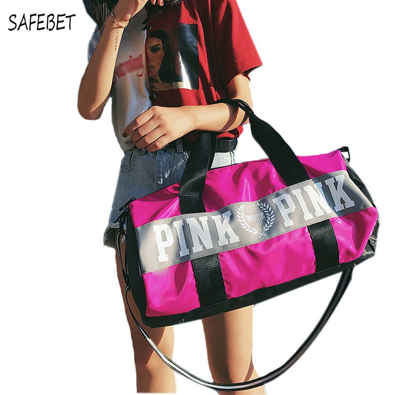 SAFEBET Travel duffle bag women pink Victoria beach shoulder bags men large capacity Handbags Overnight weekend travel bag