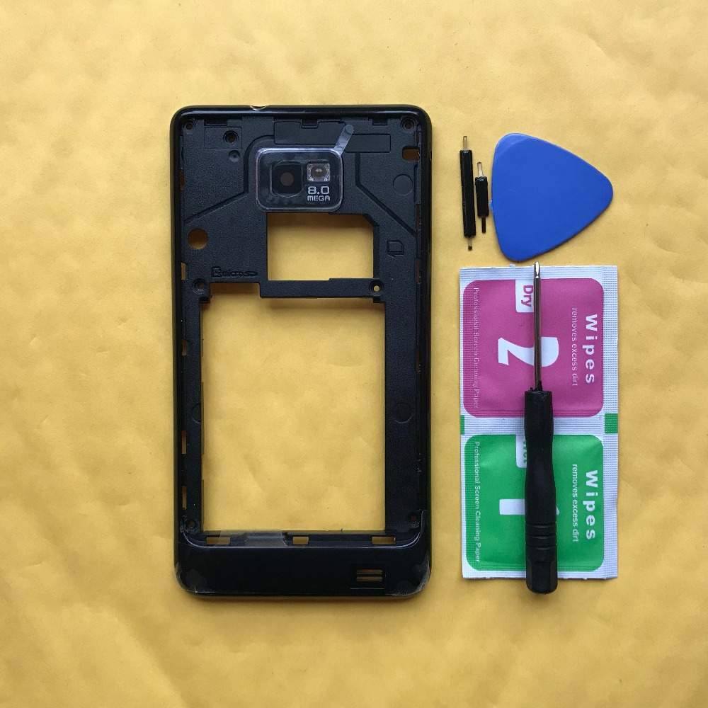 Mobile Phone Parts Adroit Original Phone Middle Frame For Samsung Galaxy S2 S Ii I9100 9100 I9105 9105 Housing Cases With Power Volume Buttons Complete Range Of Articles Mobile Phone Housings