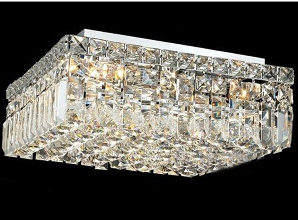 Phube éclairage moderne Chrome cristal plafonnier encastré lumière éclairage livraison gratuite