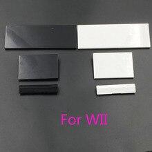60 conjuntos 3 em 1 substituição slot para porta tampas aleta para nintendo wii console
