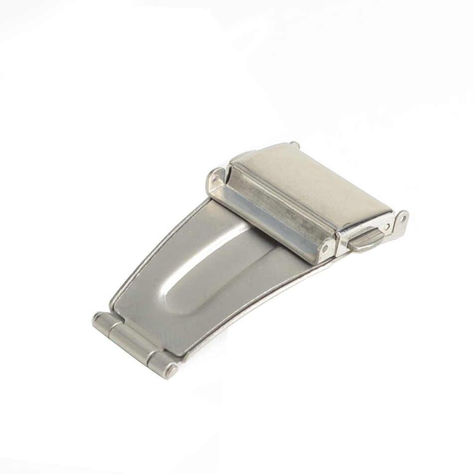 Paslanmaz Çelik Çift Toka Toka saat kayışı Band Dağıtım Toka Fold için 14mm, 18mm, 20mm, 22mm, 24mm