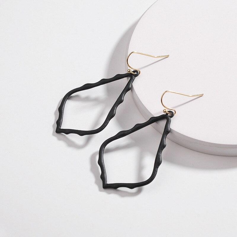 15 Colors Designer Frame Teardrop Earrings for Women Fashion Jewelry Painting Metal Water Drop Earrings Statement Earrings 22