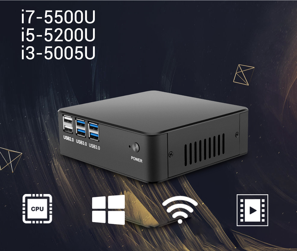 XCY Mini PC Gen 5th Intel Core i7 5500U i5 5200U i3 5005U Mini Computer HDMI VGA USB WiFi Barebone Minipc Nettop NUC Desktop цена