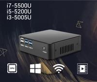 XCY Mini PC Gen 5th Intel Core i7 5500U i5 5200U i3 5005U Mini Computer HDMI VGA USB WiFi Barebone Minipc Nettop NUC Desktop