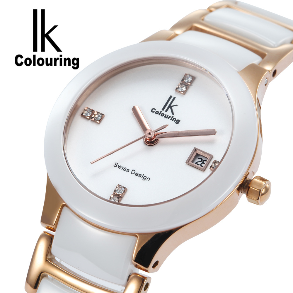ФОТО ladies watches ceramics quartz clocks female casual watches waterproof fashion lady womens wristwatches femmes montres