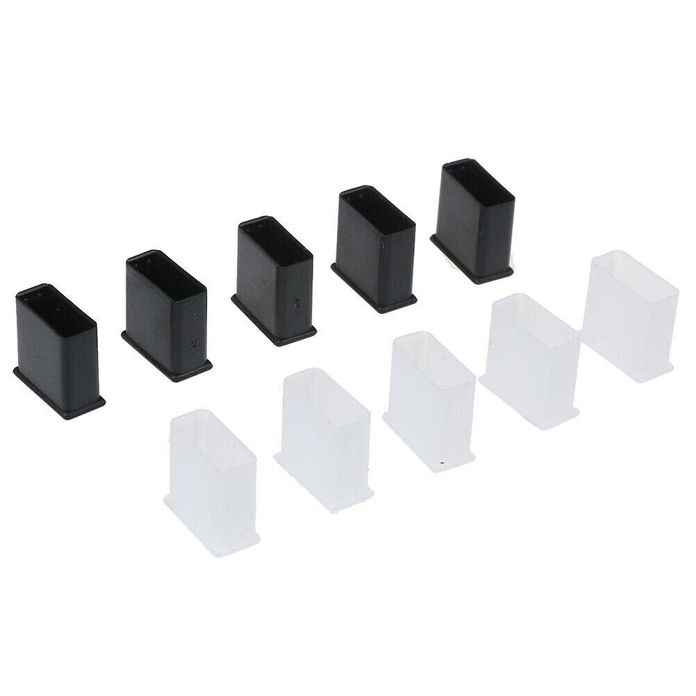 10 teile/los Kunststoff USB Männlichen Anti-staub Stecker Stopper Cap Cover Schutz Deckel