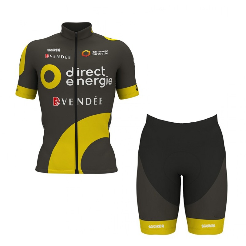 367c61d42 pro team Direct Energie bike racing team cycling jerseys kit summer  breathable racing cloth MTB Ropa Ciclismo Bicycle maillot-in Cycling Sets  from Sports ...