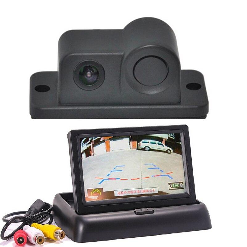 Cámara reversa del estacionamiento del coche con Sensor de Radar y 4,3