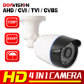 1.0MP 2MP CCTV AHD Camera Hybrid CVI TVI CVBS 4 IN 1 NightVision 720P 1080P HD Bullet Security Camera Waterproof With OSD Menu