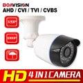 2MP CCTV AHD 1.0MP Câmera CVI TVI CVBS Híbrido 4 EM 1 de Visão Noturna 720 P 1080 P HD Câmera de Segurança de Bala À Prova D' Água Com OSD Menu