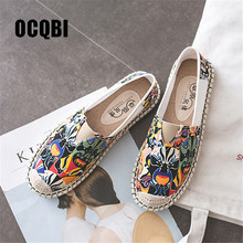 2019 Chinese Women Ethnic Loafers Peking Opera Face Slip-on Flat Shoes Woman Spring Summer Canvas Flats Sapato Feminino