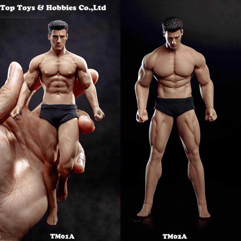 Full Set Mini Figure With Pants PH2019-TM01A /TM02A TBLeague 1/12th Scale Super Flexible Male Seamless Body Head Toy Collection
