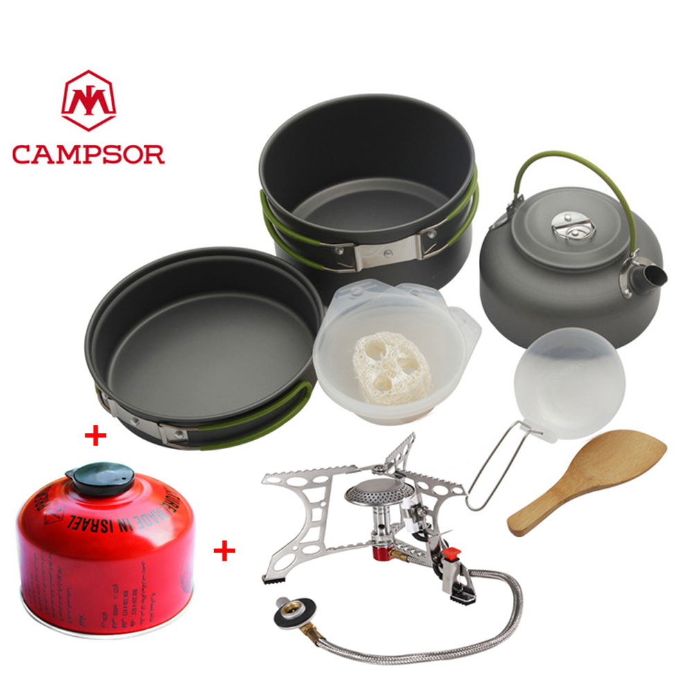 2 3 people use full set outdoor kitchen ware portable for Full set kitchen