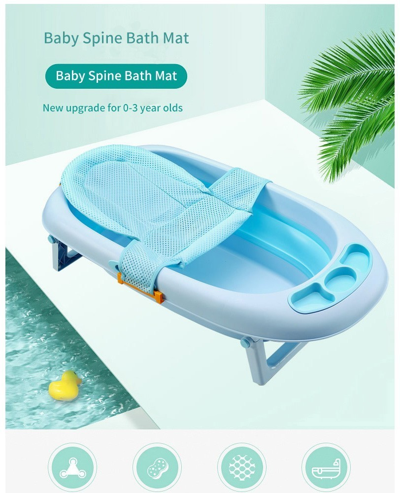 Newborn Infant Bath Us 4 65 5 Off 2019 Hot Newborn Infant Bath Net Shower Slippery Kid Bathtub Cradle Bed Seat Pink Blue Adjustable Soft For Baby Care In Baby Tubs From