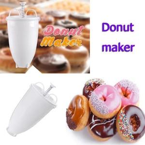Deep Fry Mould Arabic Waffle Manual Plastic Lightweight Donut Maker Waffle Dispenser Doughnut Machine Easy Fast Portable(China)