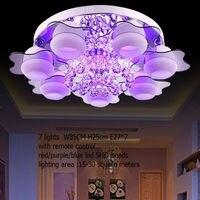 Минималистский лампы 3/5/7 светлый светодио дный шарик/дистанционный пульт/хрустальные люстры для комнаты/светодио дный Кристалл заподлицо