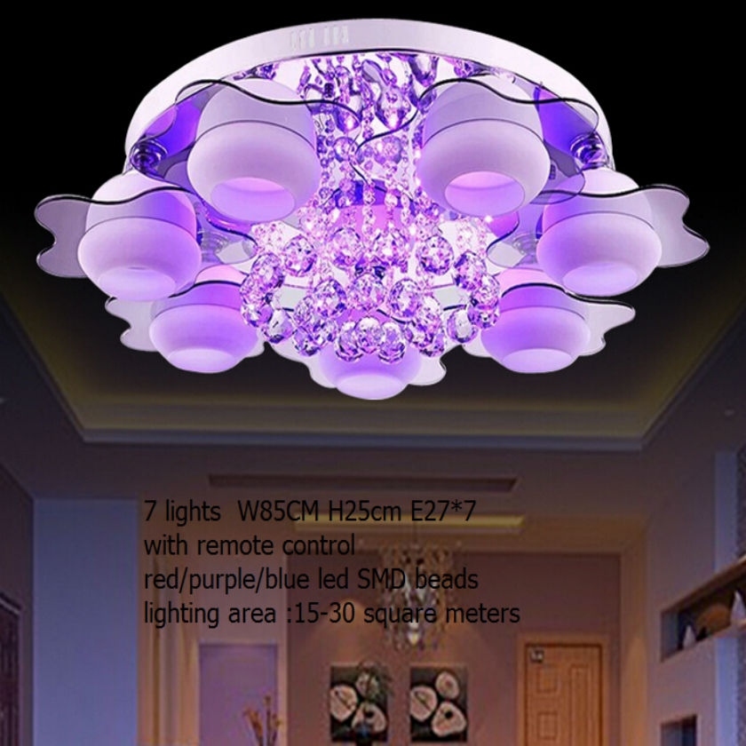 minimalist lamp 3/5/7 light colored led bead /remote control/ crystal chandeliers for room/led crystal flush mount ceiling lamp free shipping remote control colorful modern minimalist led pyramid light of decoration led night lamp for christmas gifts