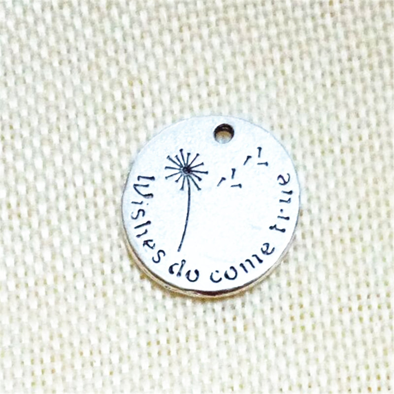 new design WISHES DU COME TRUE jewelry fashion word charms