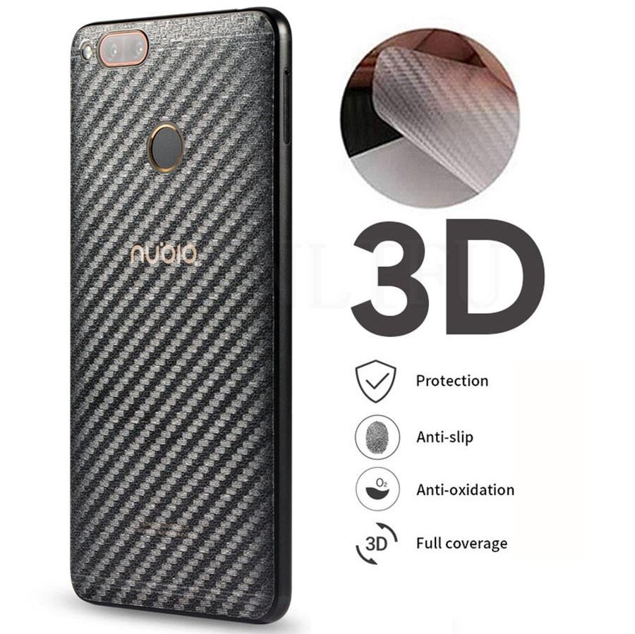 5Pcs/lot 3D Carbon Fiber Screen Protector For ZTE Nubia Z17 Z18 Z11 M2 Lite Back Cover Protective Guard Film Z17s Z18 Z11 Minis