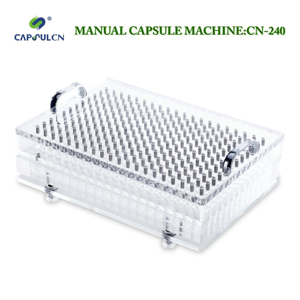 Máquinas de enchimento manuais CN-240 manual operado personalizado para o tamanho #000 #00 #0 #1 #2 #3 #4 #5 (aço inoxidável, não facilmente enferrujado)