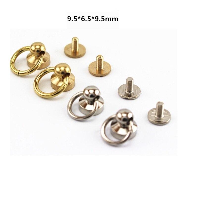 brass rivets buckle button bags Leather strap belts buckles screw rivet 10mm button O ri ...