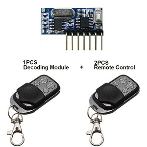Image 5 - QIACHIP 2pcs 433 Mhz Remote Control + 433Mhz Wireless Receiver Learning Code 1527 Decoding Module 4Ch Output Learning Button DIY