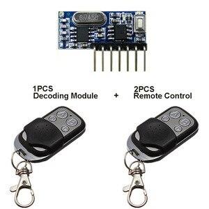 Image 5 - Qiachip 2pcs 433 mhz 원격 제어 + 433 mhz 무선 수신기 학습 코드 1527 디코딩 모듈 4ch 출력 학습 버튼 diy