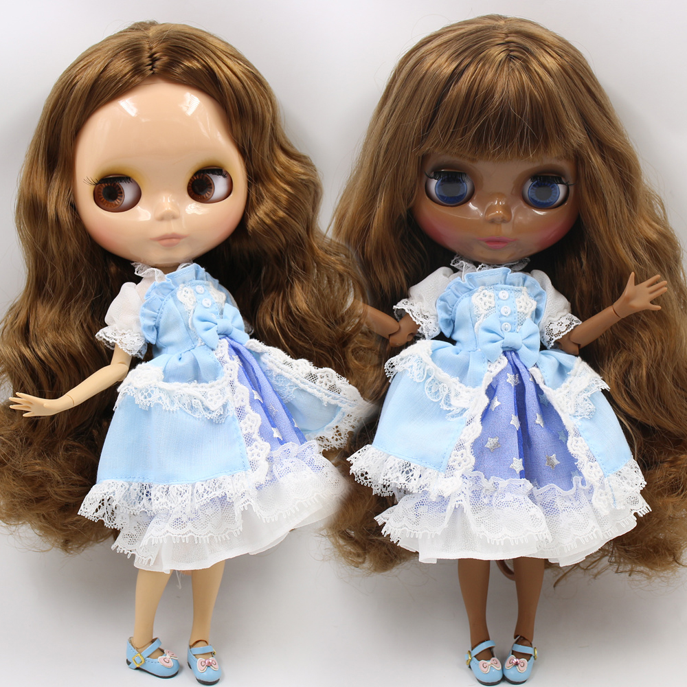 ICY Nude Blyth Custom Doll No BL0623 deep brown hair 1 6 bjd pullip licca jerryberry