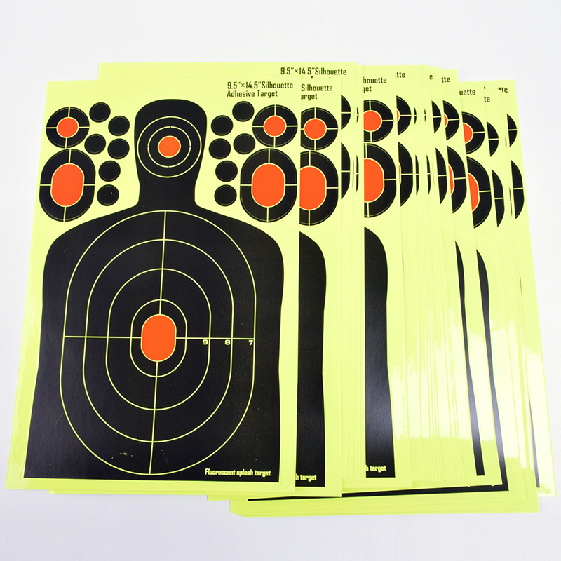 Купить с кэшбэком 20PCS Realistic Shooting Targets Splatter Adhesive Target Blossom Man Silhouette Stickers for   Hunting Shooting