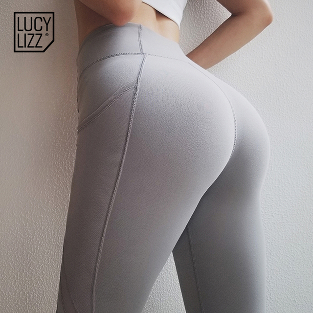 4243429955f92 Lucylizz Leggins Sport Women Fitness Super Stretchy Yoga Pants Breathable Sport  Leggings Sports Wear for Women Gym Tights Pants