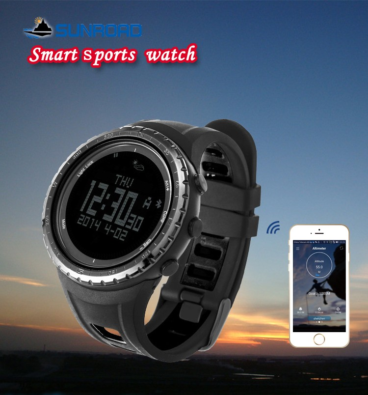 SUNROAD Bluetooth font b Smart b font Sports Waterproof Digital Wrist font b Watch b font